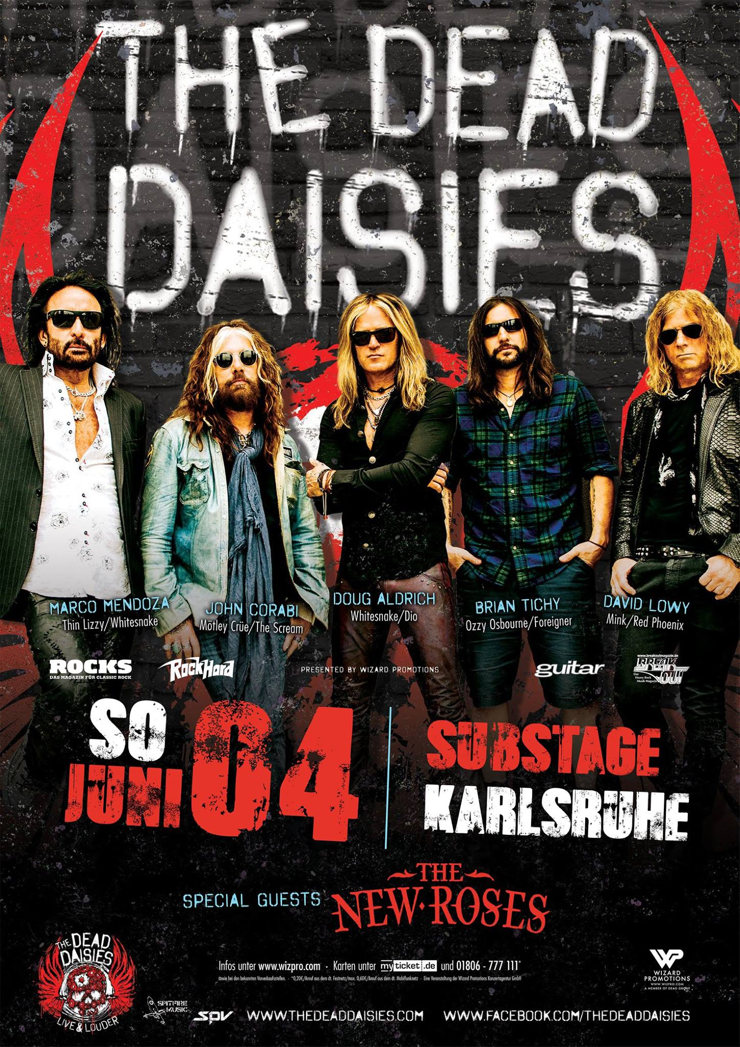 The Dead Daisies & The New Roses, 04.06.17, Substage, Karlsruhe