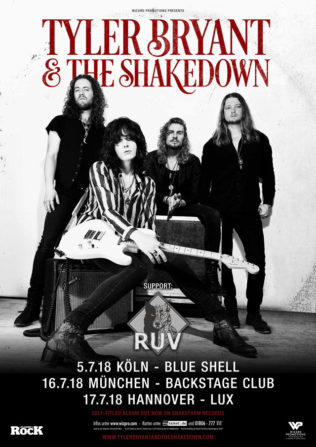 Tyler Bryant & The Shakedown + RUV, 05.07.2018, Blue Shell, Köln
